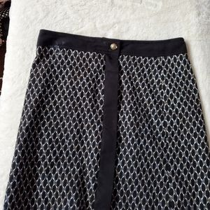 ANNE KLEIN patterned skirt